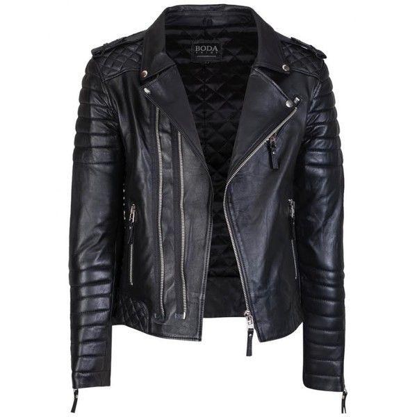Véritable peau d/'agneau cuir motard veste moto avec quilting détails
