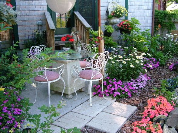 my cape cod secret garden a small patio and garden for dining and relaxing surrounded - Small Patio Garden Ideas