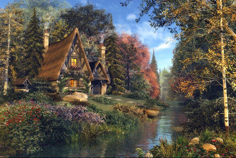 Fairytale Cottage Artist Dominic Davison Born 1972 United Kingdom