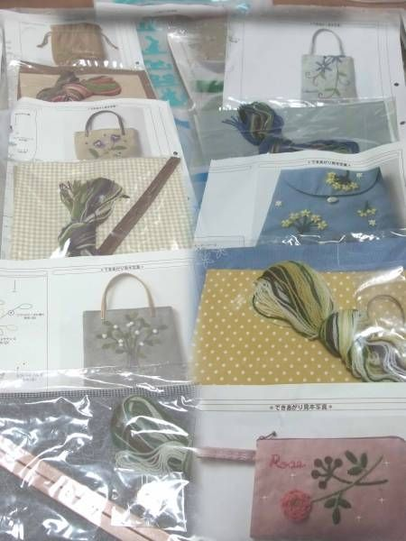 フェリシモ刺しゅうキットウールでステッチバッグポーチ ハンドメイド インテリア 雑貨 Handmade handicraft kit ¥1500yen 〆05月08日