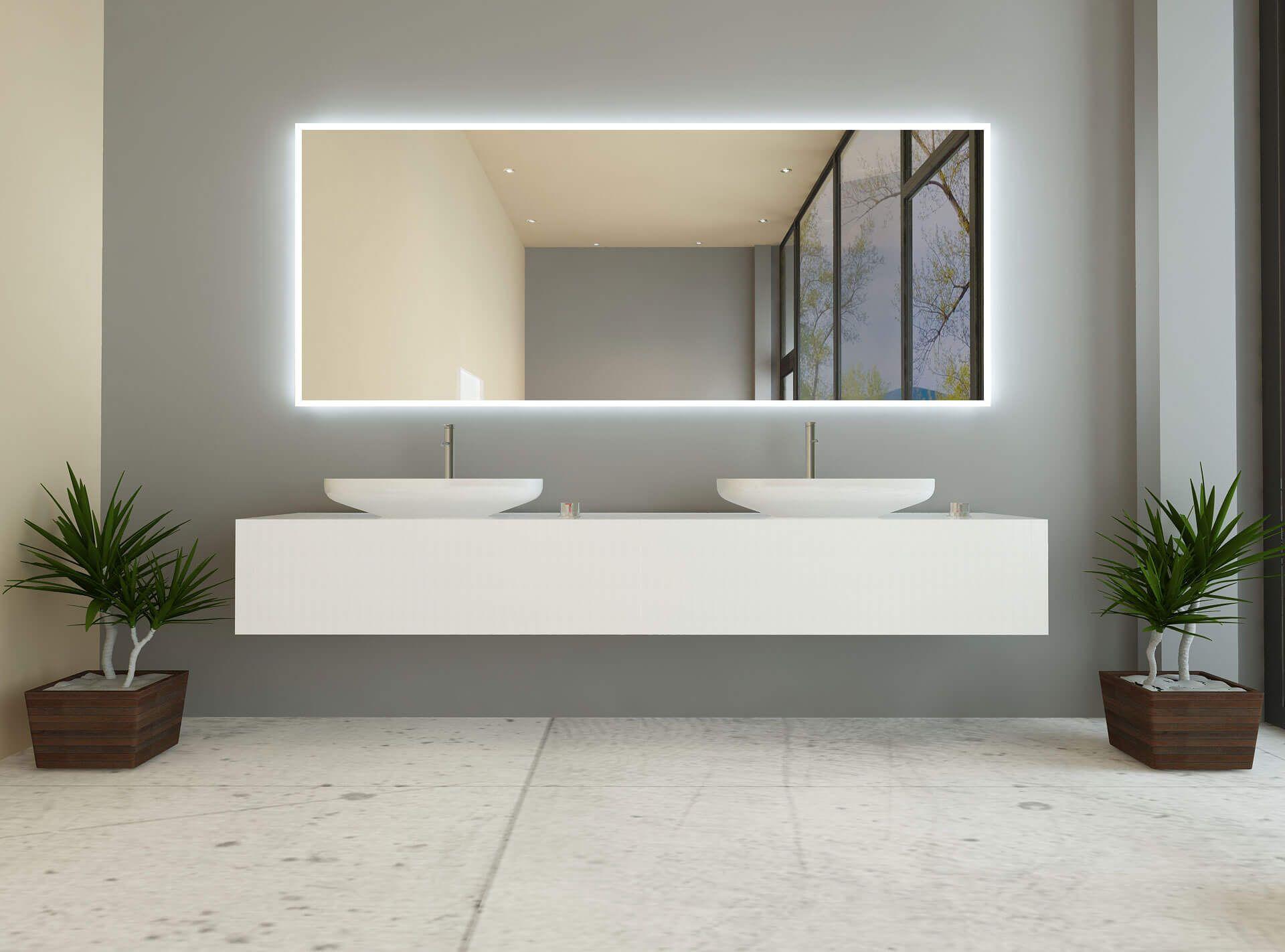 Jerome Badspiegel Bad Spiegel Beleuchtung Badezimmerspiegel