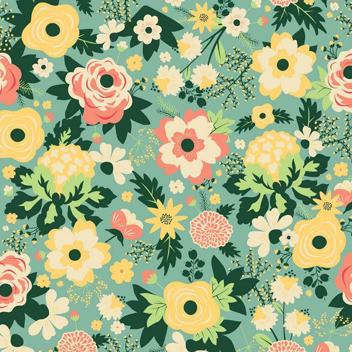 Riley Blake Quilting 100/% Algodón Tejido De Niña De Mis Ojos Flores daisys Floral
