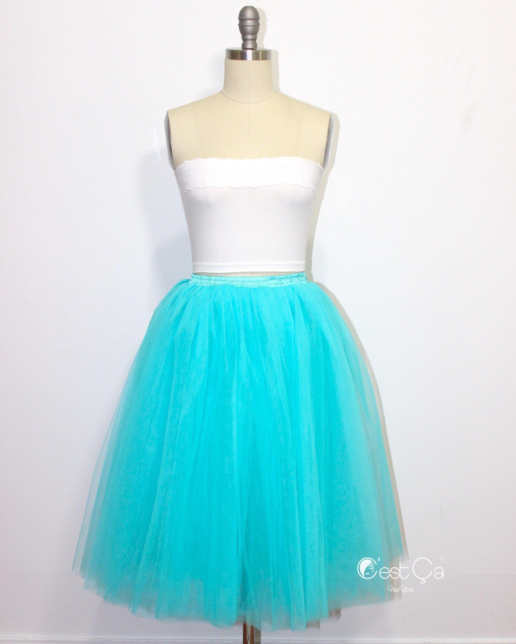 Clarisa sky blue tulle skirt u regular midi blue tulle skirt