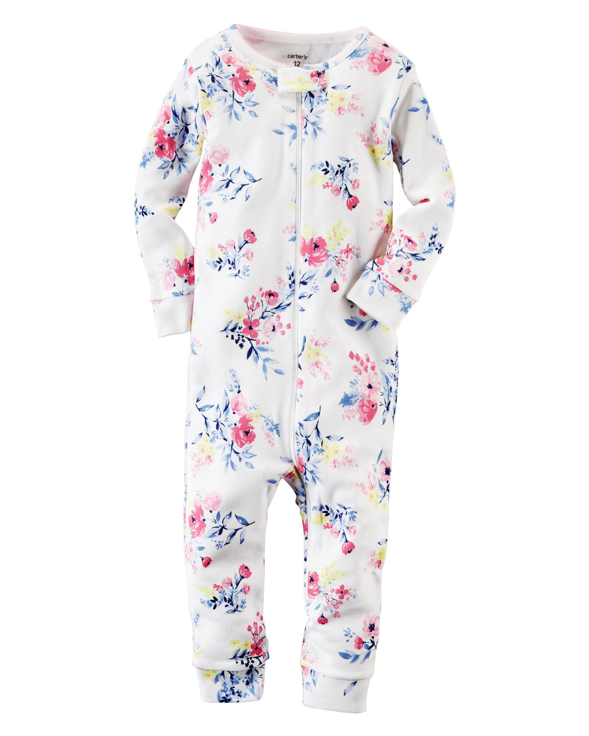 87bf8f3c0142 Toddler Girl 1-Piece Snug Fit Footless Cotton PJs