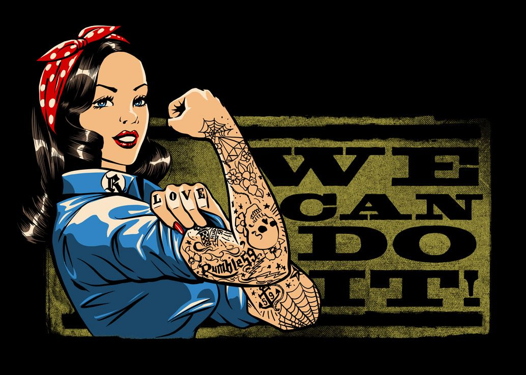We Can Do It - Rosie the Riveter /// Design: Jan Meininghaus #Rumble59
