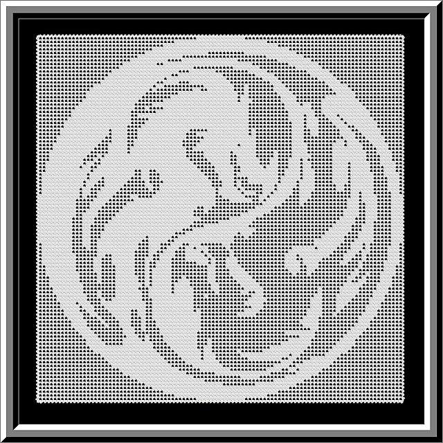 Yin Yang Dragons pattern by Jacqueline Bartee