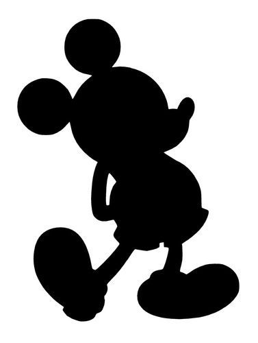 mickey mouse silhouette | mickey mouse body silhouette mickey mouse