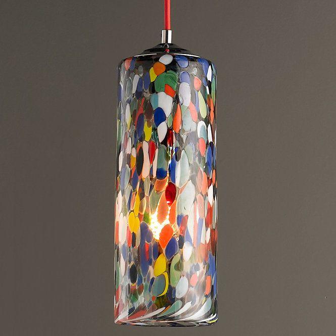 Colorful Glass Cylinder Pendant Light Glass Cylinder Pendant