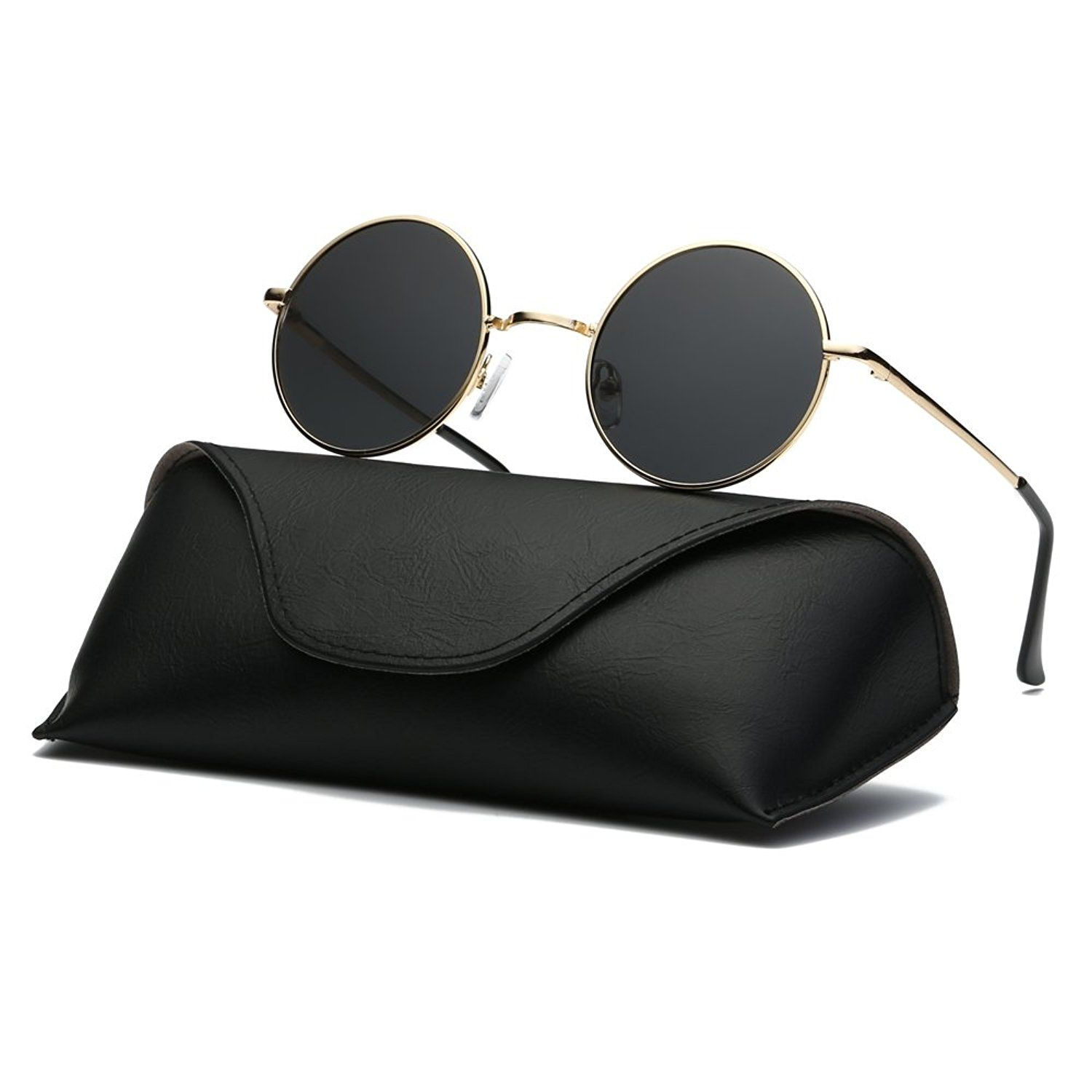 5437910e0f Ray Parker Fashion Classic Vintage UV Protection Round Mirrored Polarized  Lens Sunglasses for Men RP8024