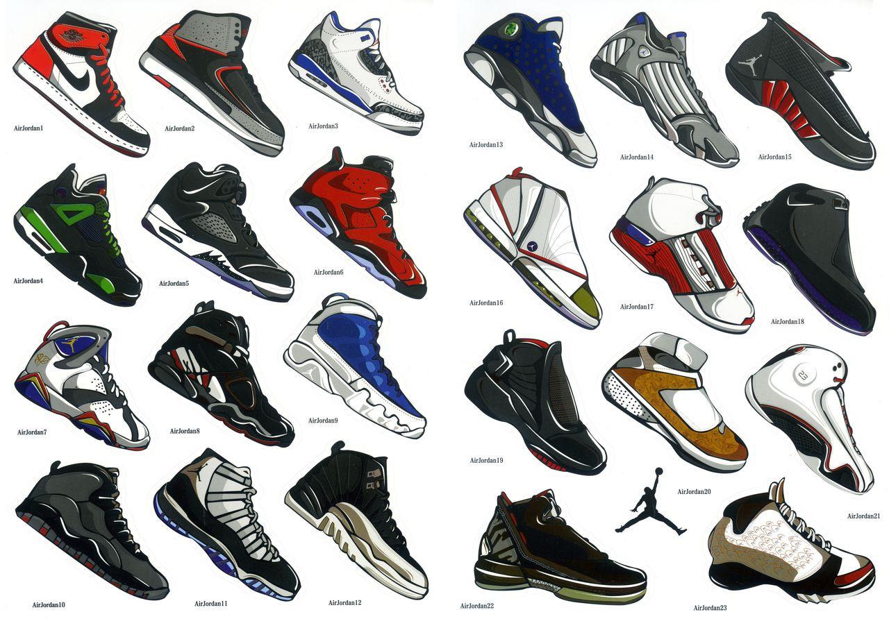 Jordan Stickers Shoes