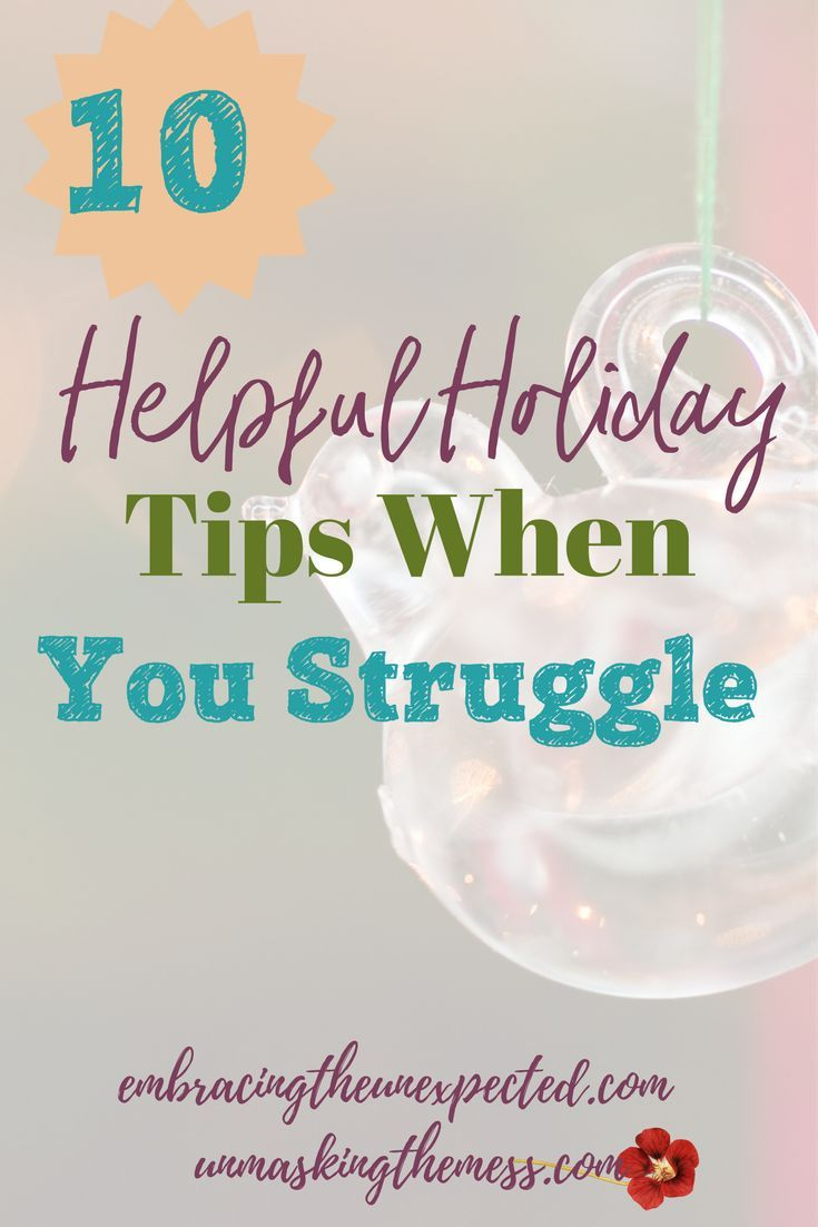 10 Helpful Holiday Tips When You Struggle -UMTM | Encouragement ...