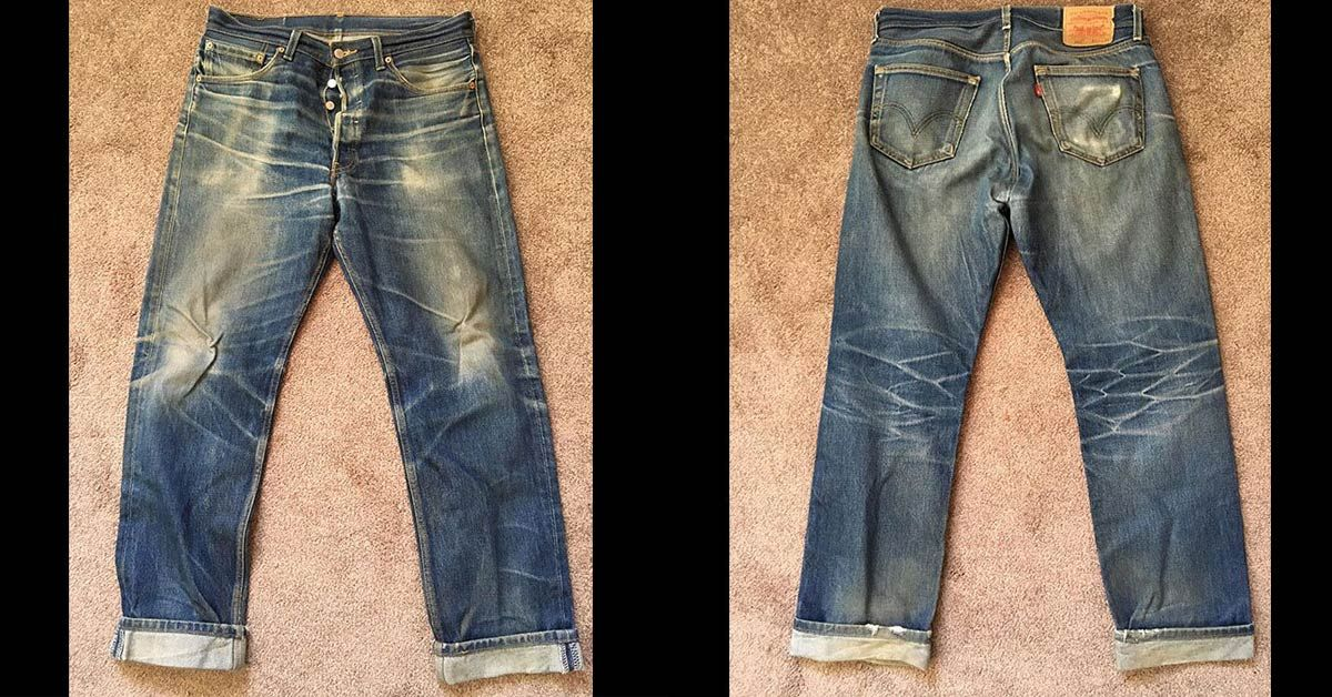 ae02f761bd1 Levi s 501 STF (3 Years 1 Soak Unknown Washes) - Fade of the Day