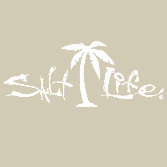 Salt Life Signature Palm Tree Decal Palm Tree Quotes Salt Life Decals Salt Life Stickers