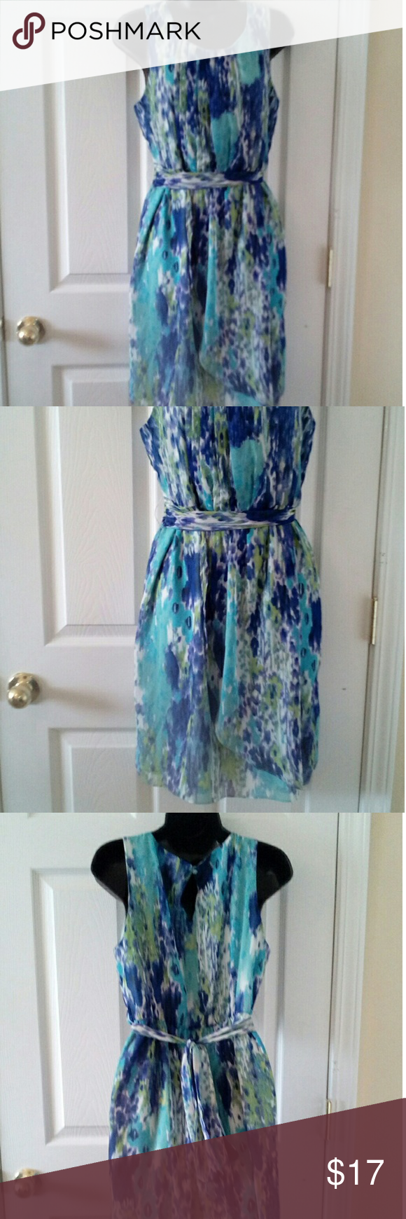 "Apt. 9 sleeveless dress sz Med Beautiful colors 17"" armpit to armpit 36"" length Apt. 9 Dresses"