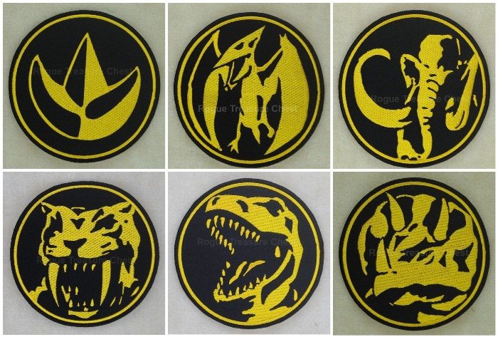 Complete Set of 6 Mighty Morphin Power Rangers Insignia ...