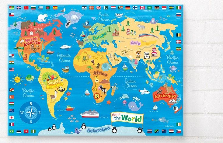 10 My First World Map, £ 6495 For a couple that loves to travel - new world map of africa
