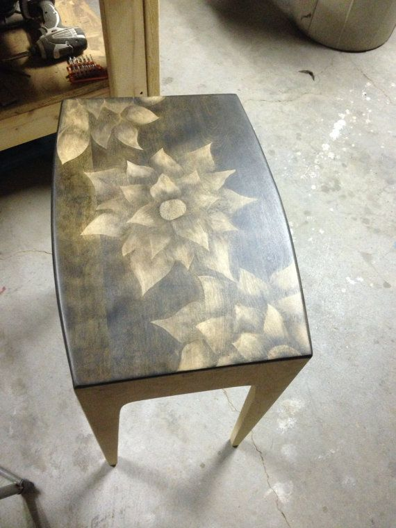 Stained/ shaded retro table on Etsy, $95.00