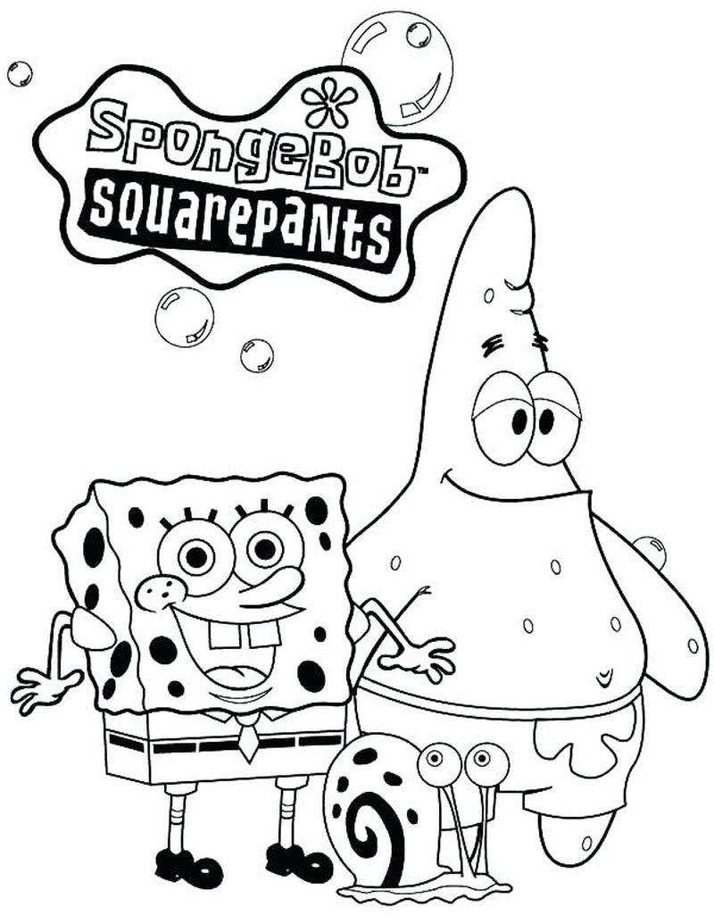 Printable Spongebob Coloring Pages For Kids Di 2020 Gambar