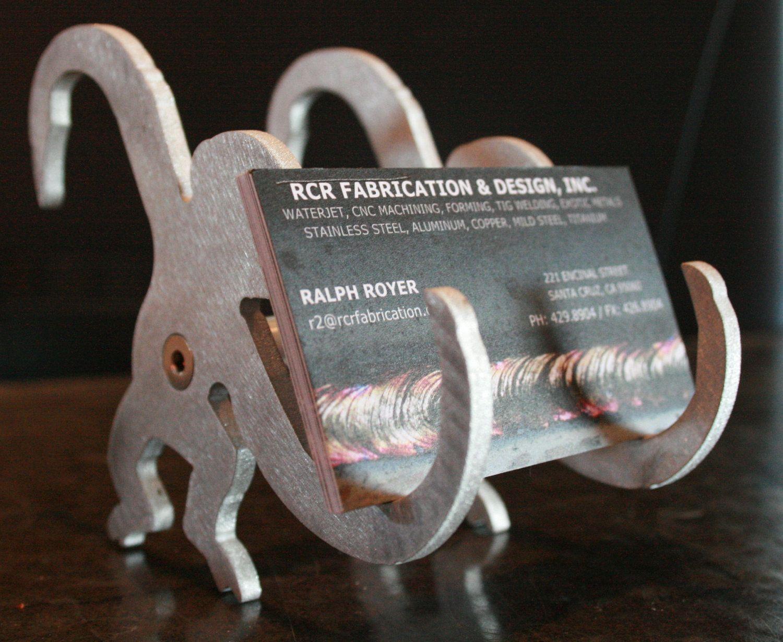 Aluminum Monkey Business Card Holder 15 00 Via Etsy Monkey Business Cool Desk Toys Business Card Holders