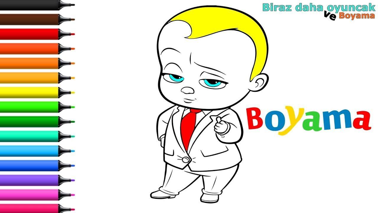 Patron Bebek Boyama Sayfasi Cocuklar Icin Boyama Videolari Ve Boyama O Painting Games For Kids Baby Coloring Pages Boss Baby