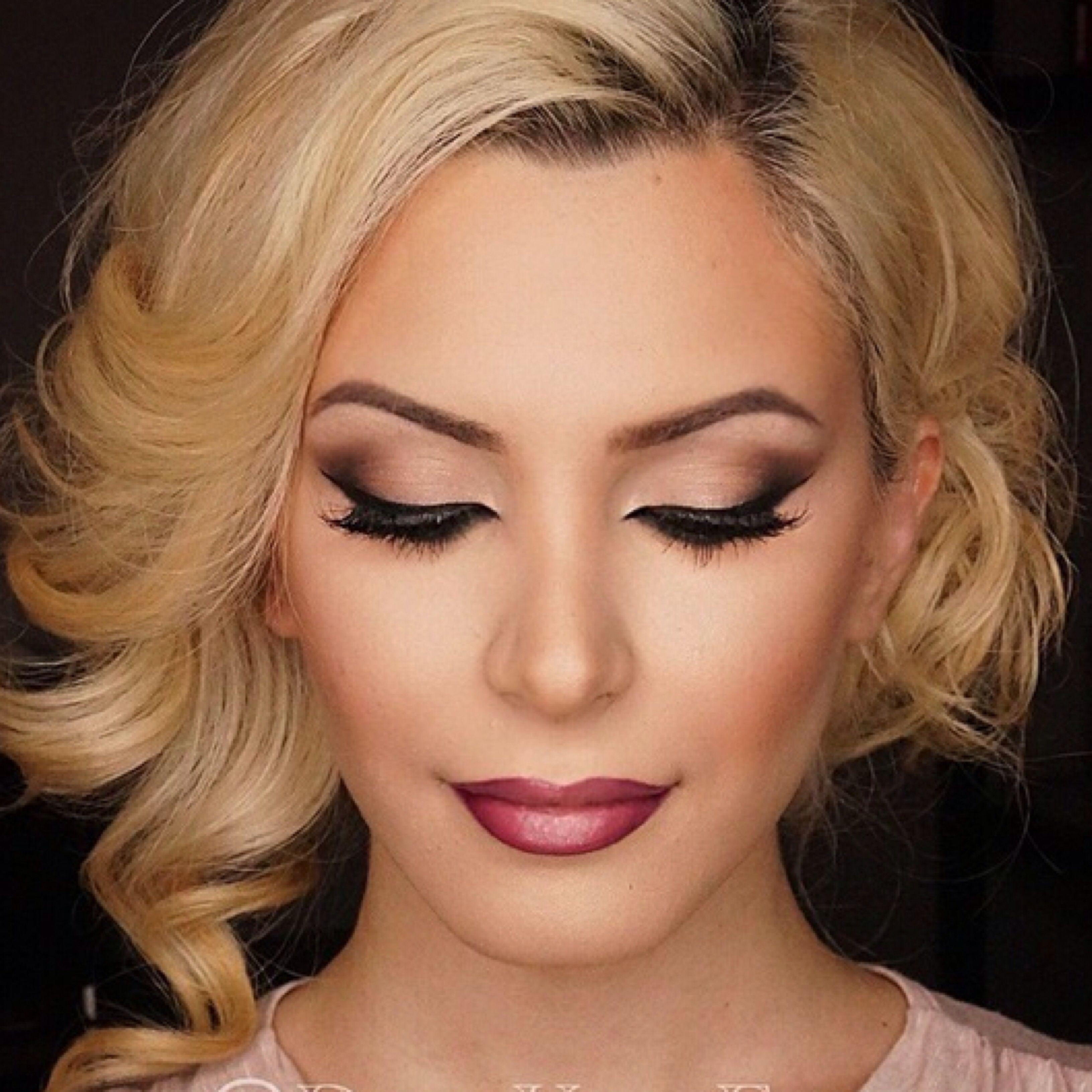 Cateye smokey shadow wedding fit4thedress hair makeup