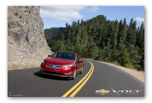 Volt In The Mountains Art Poster Chevy Mall Chevy Volt