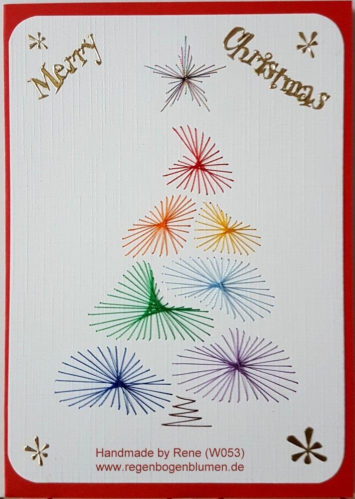 Grußkarten-Set W 053 - Motiv: Weihnachtsbaum 02 Rainbow ...