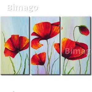 Amapolas rojas cuadro decorativo cuadros de amapolas - Bimago cuadros modernos ...