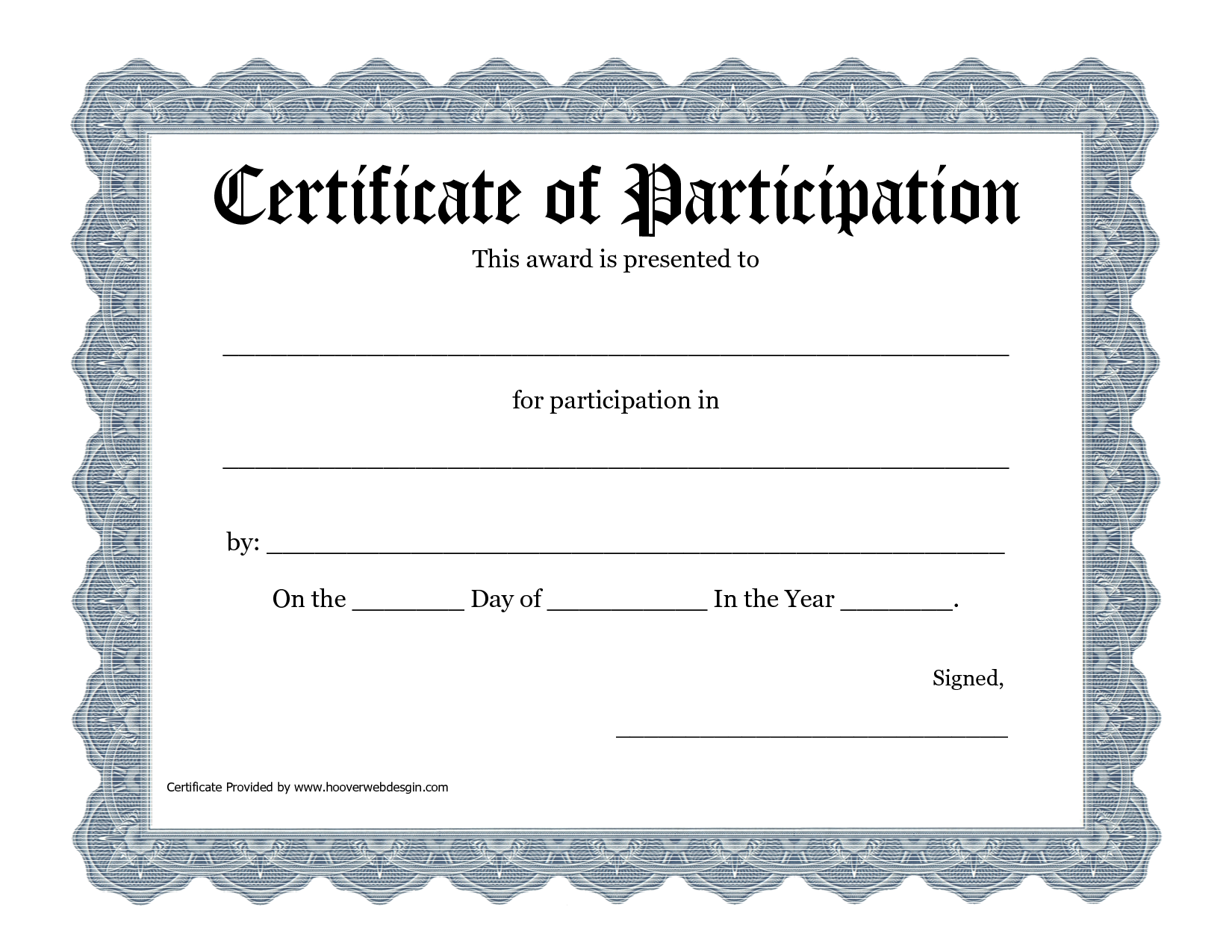 Free Printable Participation Certificates Yelomdiffusion