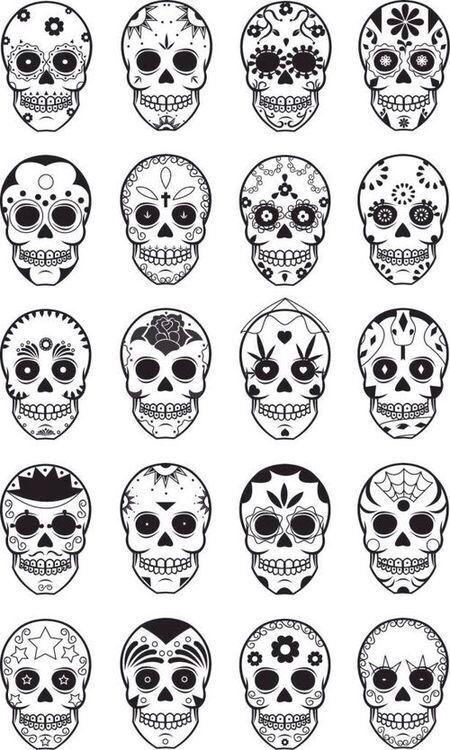 Zucchero Cranio Carta Da Parati, Arte Sugar Skull, Teschi Di Zucchero, Mamma