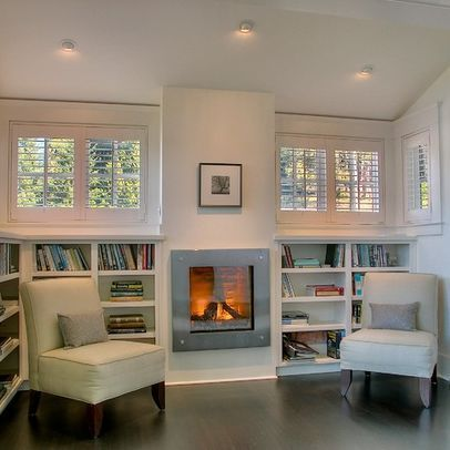 Built In Gas Heater And Shelves Design Pictures Remodel Decor And Ideas Page 2 Basement Windows Contemporary Family Rooms Small Living Rooms