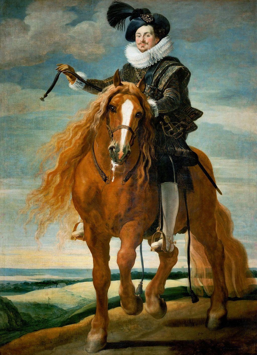 Gaspar de Crayer (1582-1669): Equestrian portrait of Don Diego Messia Felipe de Guzmán
