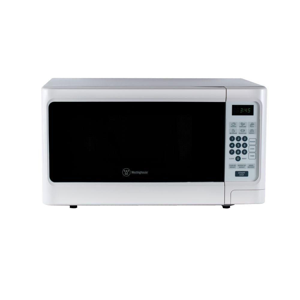 Westinghouse 1 1 Cu Ft 1000 Watt Countertop Microwave In White Countertop Microwave Microwave Countertops