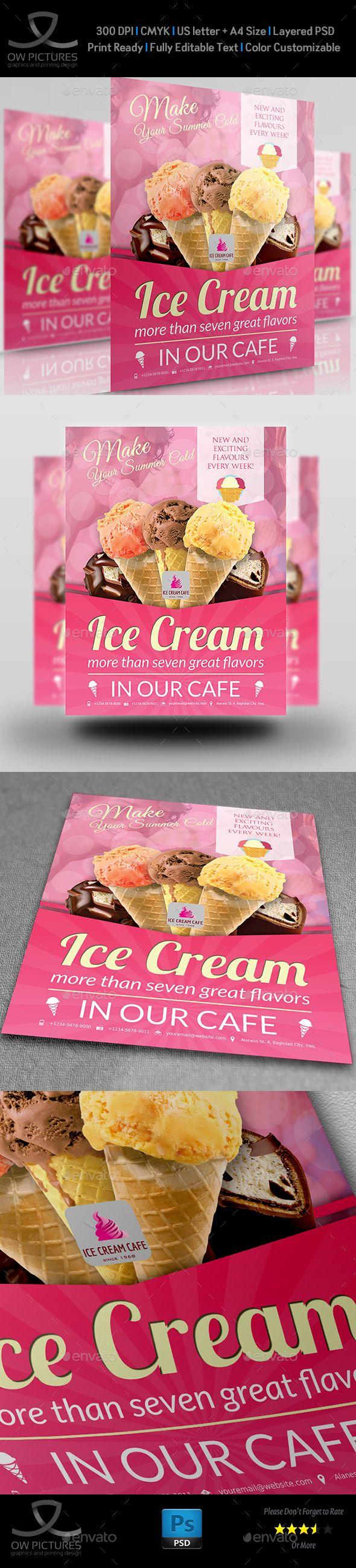 ice cream flyer template vol 4 pinterest flyer template