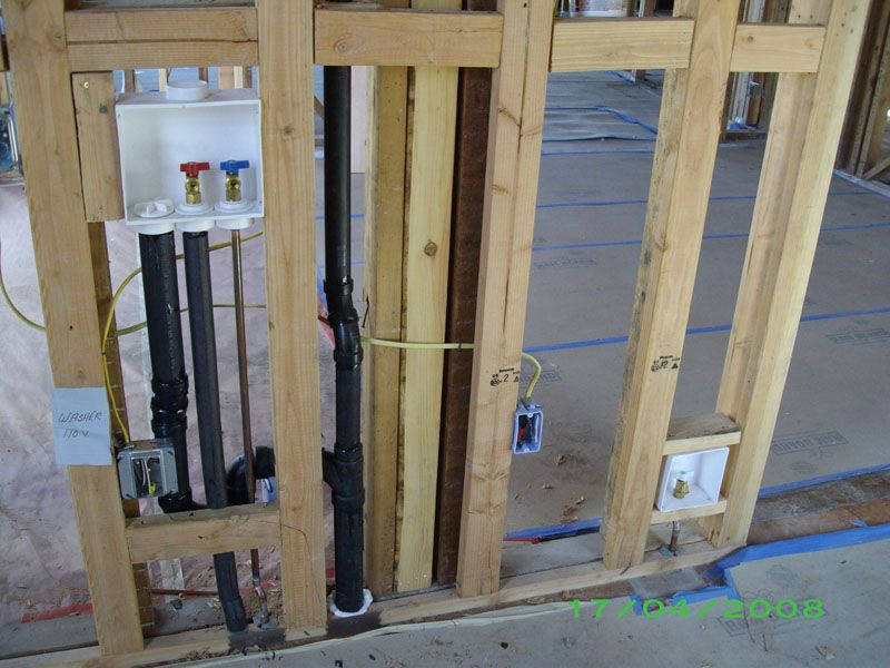 Rough Piping For Washer And Dryer With Washer Box Installation