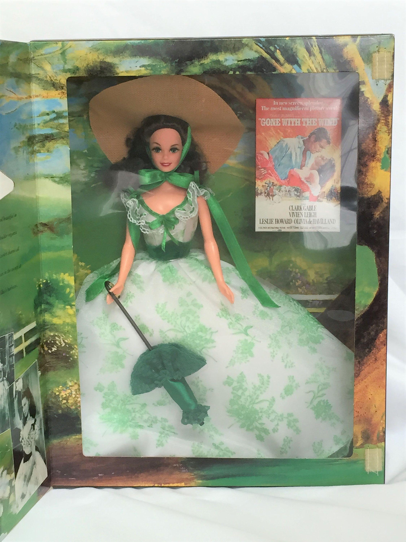 Hollywood Legends Barbie As Scarlett O'Hara 1994 #12997 Barbeque #hollywoodlegends Hollywood Legends Barbie As Scarlett O'Hara 1994 #12997 Barbeque #etsy #toys #pretendplay #doll #actionfigure #girldolls #vintagebarbie #holidaybarbie #playhouse #collectibledoll #hollywoodlegends