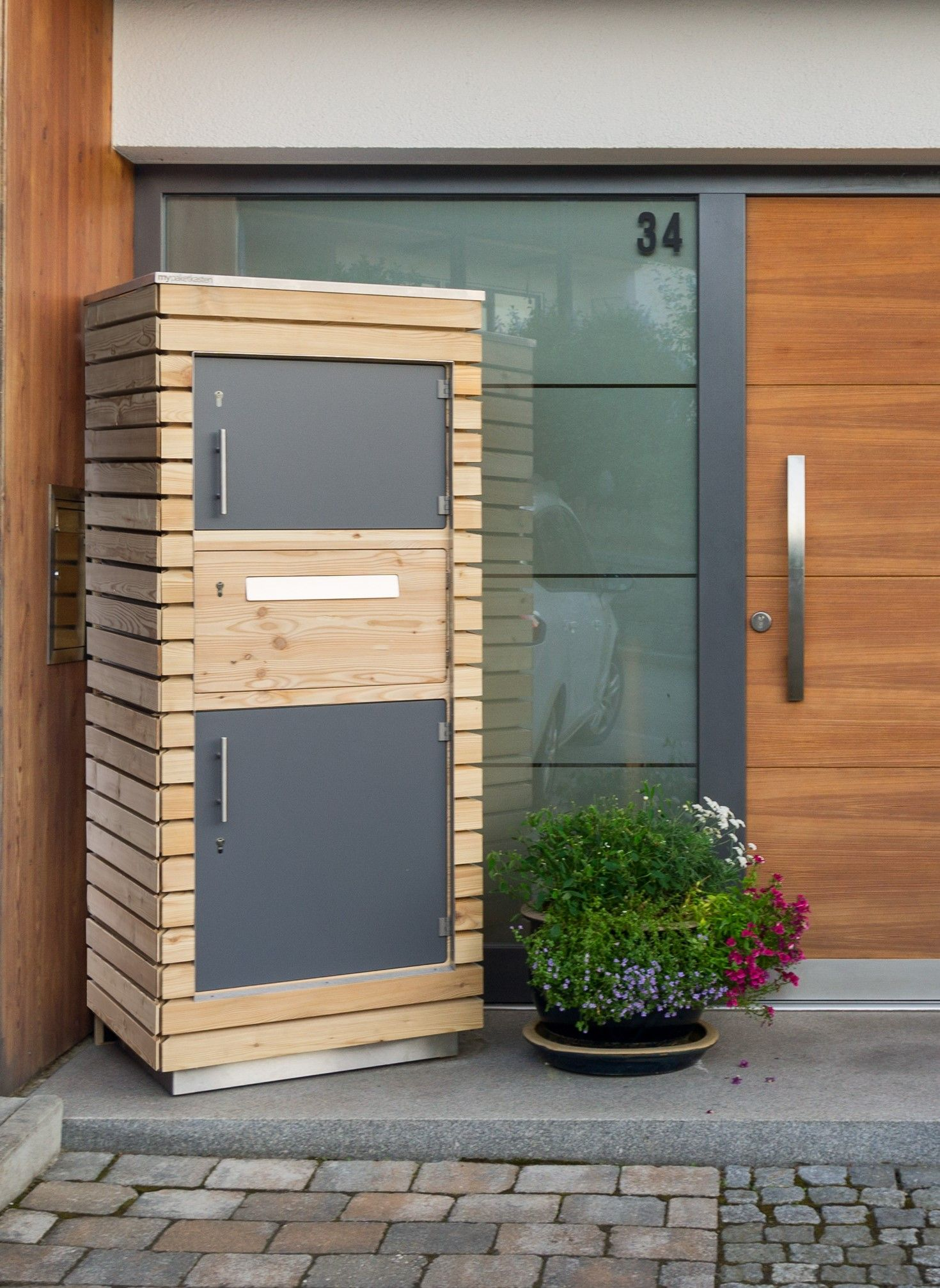 Paketkasten Aus Holz Paketkasten Grosser Briefkasten Briefkasten Freistehend