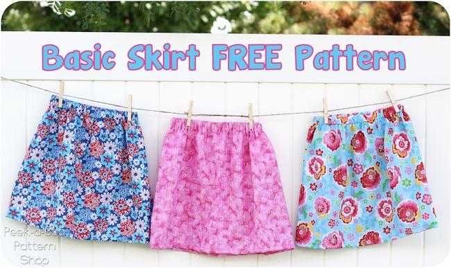 Free Skirt Pattern | Kinderkleidung, Nähen und Freebooks