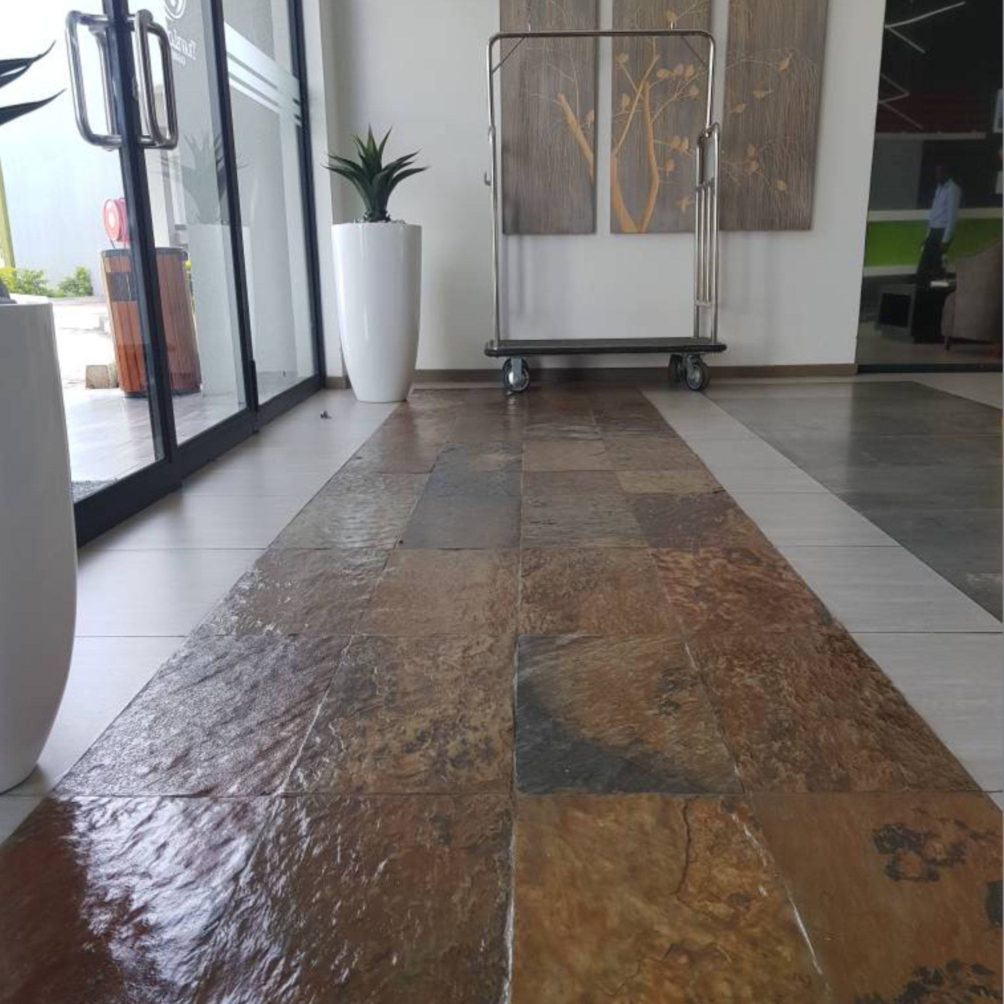 A waterborne tile and cement sealer to protect unglazed