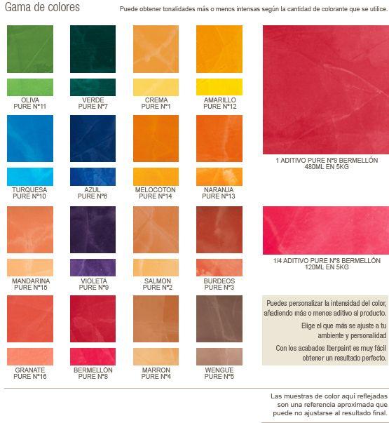 Gama de colores pinturas pinterest gamas de colores for Muestrario de pinturas