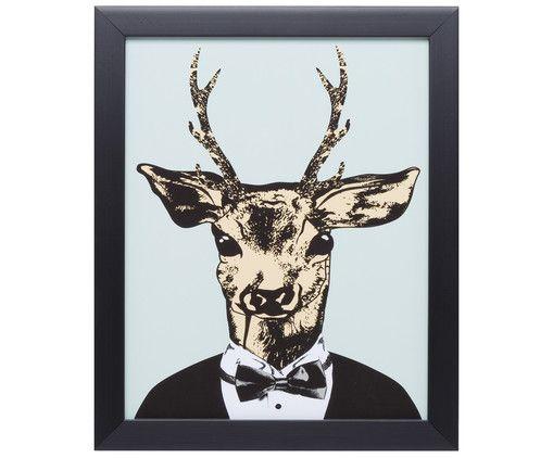 Gerahmter Digitaldruck Mr. Deer