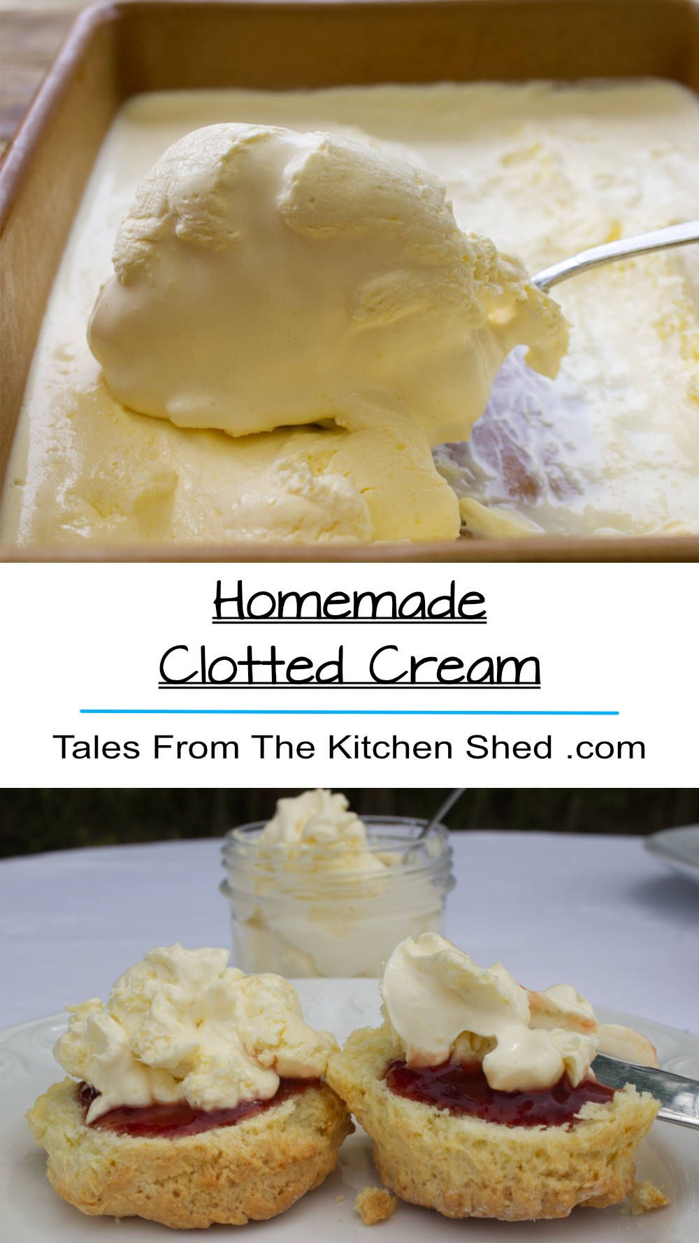 Homemade Clotted Cream Recipe Easy Gluten Free Desserts Food Baking Recipes