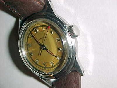 40's MOVADO - F BORGEL best Art Deco SS No 3839 - MILITARY Triple STEPPPED CASE