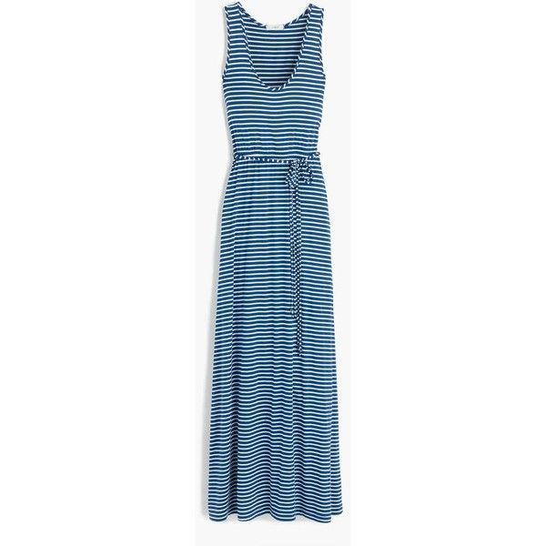 0e336da0a9f J.Crew Striped Maxi Dress With Tie Waist ( 130) ❤ liked on Polyvore  featuring dresses