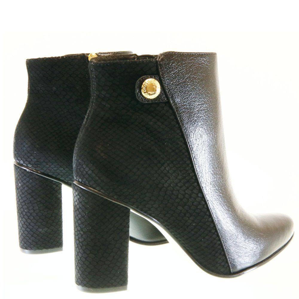 1cda2f692e0728 Bota Cano Curto Preto 5101 Luz da Lua | Moselle sapatos finos ...