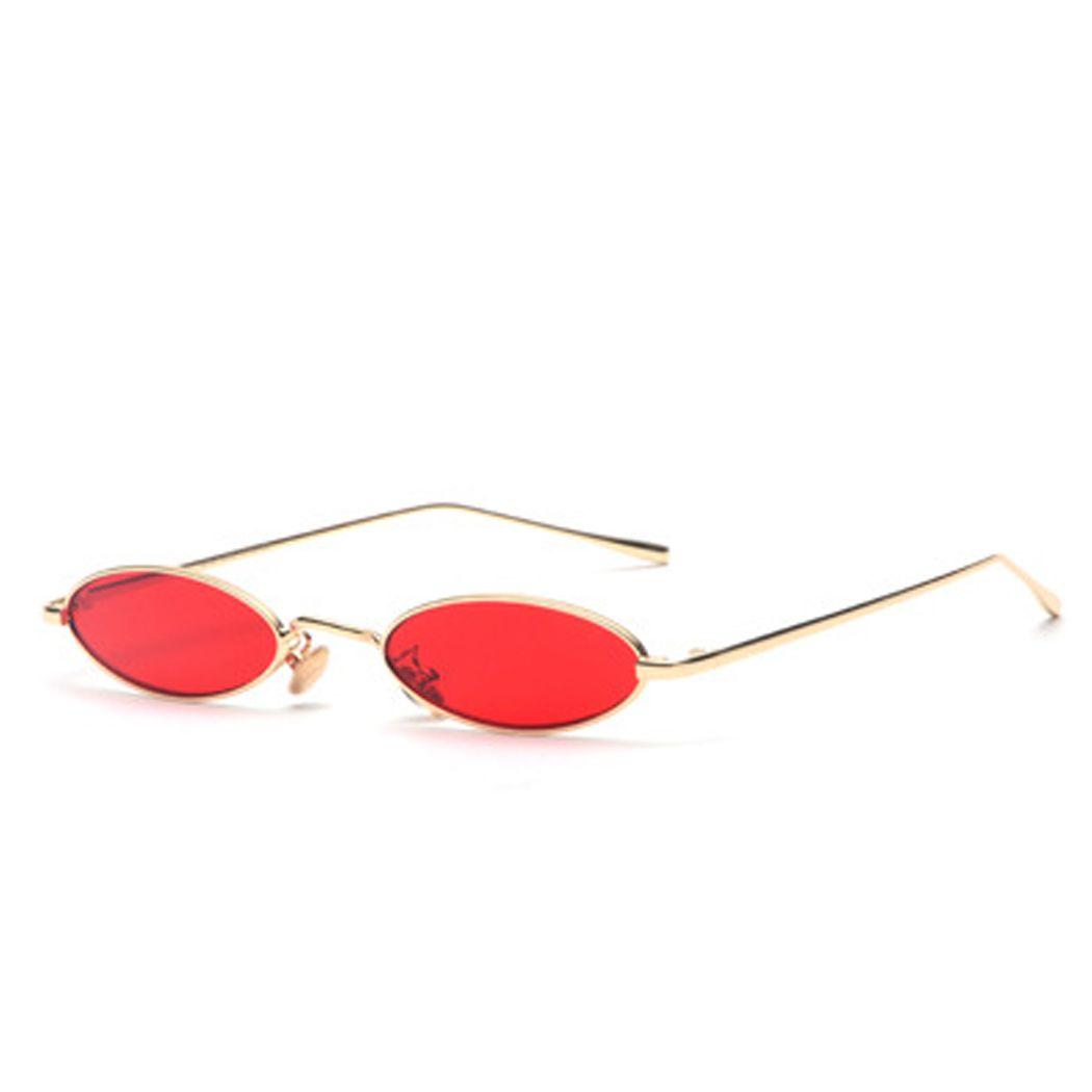 Small Sunglasses Women Men Retro Metal Glasses Transparent Yellow Lens Female Sun Glasses UV400 22i3K1fR