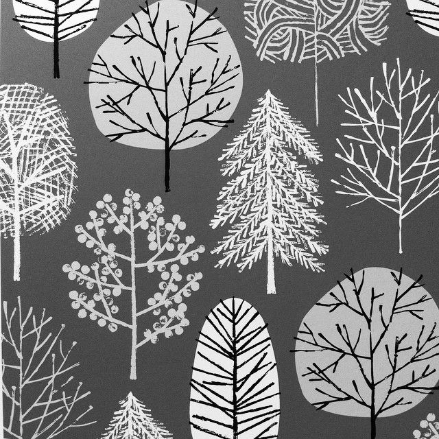 """Frosty Forest"". Quite appropriate for the weather of late. #trees #print #eloiserenouf"