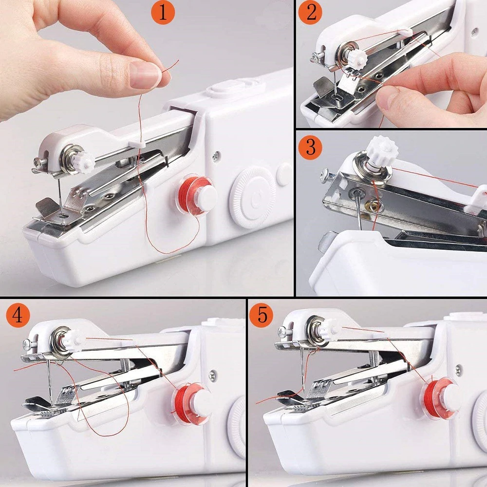 Mini Handheld Manual Sewing Machine Portable Quick Stitch Diy Tool In 2020 Sewing Hacks Sewing Machine Hand Sewing
