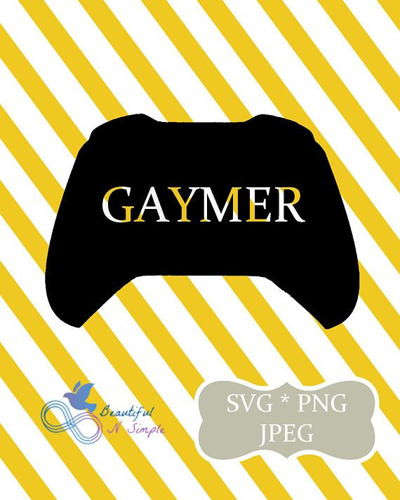 Gaymer, Game Controller, Xbox Control, Video Games, SVG ...Xbox Controller Silhouette Image Cricut
