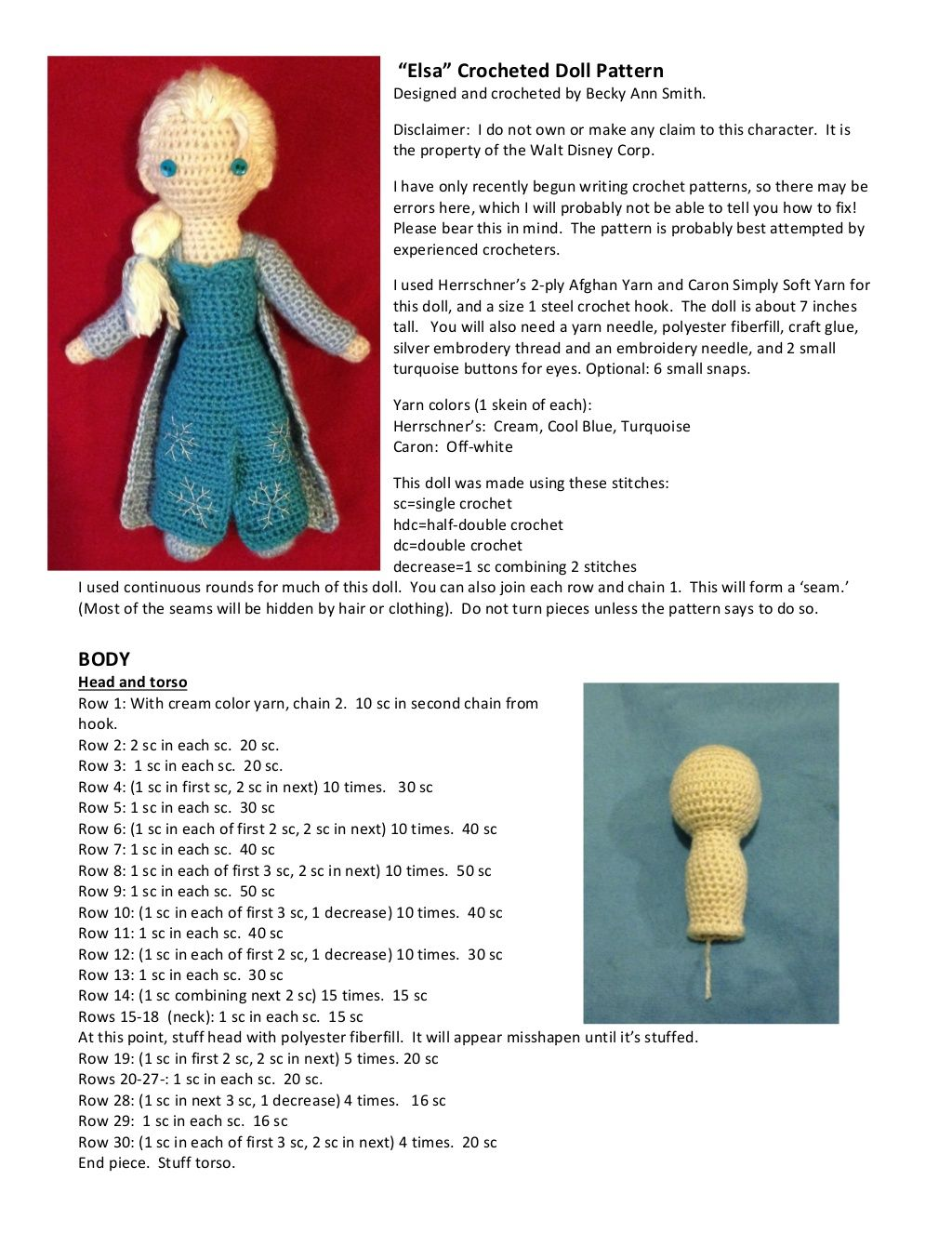 Free Crochet Pattern: Elsa or Daenerys Doll | Doll patterns and Doll ...